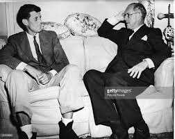 jack u0026 joe kennedy sit on sofa pictures getty images