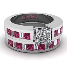 pink and black engagement rings explore marvelous collection of baguette engagement ring