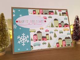 happy holidays christmas card american crafts u0027all wrapped up