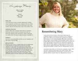funeral program ideas funeral program template