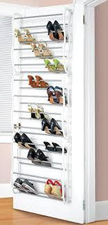 Closet Door Shoe Storage Shoe Storage On Door Closet Door Shoe Organizer The Rack