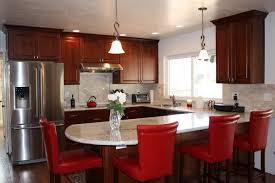 country kitchen with red cabinets ideas decorating kitchen in