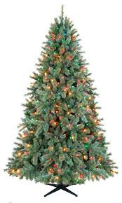 7 5ft lakeshore blue green slim tree with 450 multi