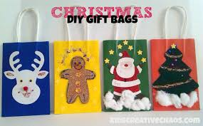 diy christmas gift bag ideas kids creative chaos