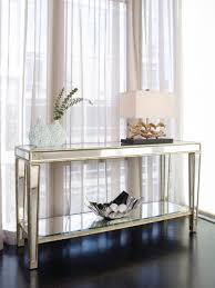 console tables elegant mirrored buffet console table front entry