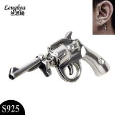earing for boys personalized cool single 925 silver stud earring vintage