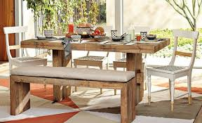 Rustic Bench Dining Table Rustic Dining Table With Bench Seating Leandrocortese Info