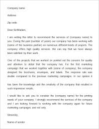 recommendation letter for a company template best business