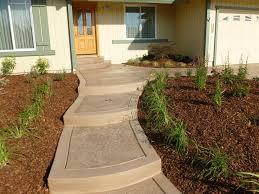 Backyard Walkway Designs - front yard patio pictures stamped concrete walkway ideas desert