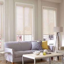 Roller Shades With Curtains Solar Shades Shades The Home Depot