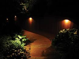 Solar Lights Fence - exterior captivating cool fence lighting on backyard wooden