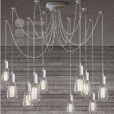 Diy Vintage Chandelier Retro Chandelier E27 Spider Lamp Pendant Bulb Holder Edison Diy
