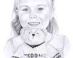 sketch portrait etsy