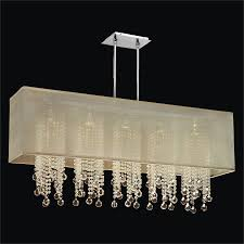 Faux Crystal Chandeliers Rectangular Shaded Smooth Beads And Ball Chandelier Omni 627b