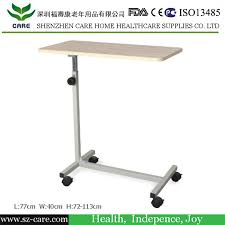 china wooden dining board adjustable hospital bed table with