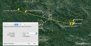 Distance Between Two Points Map Debunked View Of Blue Ridge Mountains Impossible On Spherical