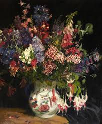 a bunch of flowers art uk