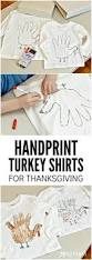 thanksgiving turkey handprint craft handprint turkey shirts an easy thanksgiving idea