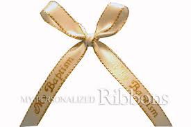 personalized ribbons for favors 15 00 3 8 my baptism ribbon