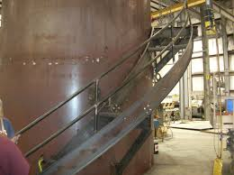 Spiral Stair Handrail Industrial Stairs Industrial Access Southern Metal Fabricators