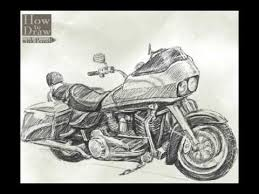 how to draw bike harley davidson road glide youtube