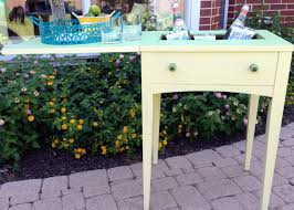 drink table bar vintage sewing table turned beverage table a nester u0027s nest