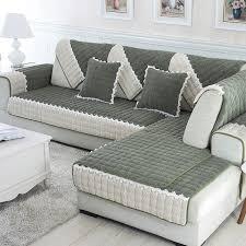 tissu housse canapé 1 pièce par ensemble canapé couvre plumer tissu tricot écologique