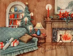 home interior ebay 1325 40s cozy home interior hearth tree vintage card