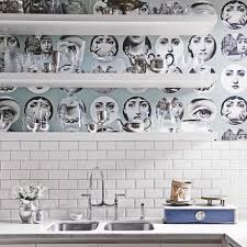 kitchen wallpaper ideas 10 of the best modern kitchen with face print wallpaper