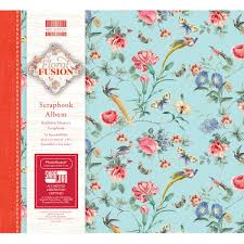 refillable photo albums edition floral fusion scrapbook album 8 x 8 inches hobbycraft