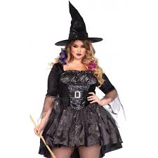 plus size womens costumes black magic witch plus size costume of magic