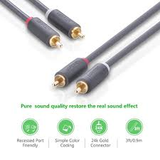 audio cable for home theater system amazon com ugreen 2rca male to 2rca male stereo audio cable gold