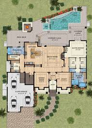 mediterranean style house plan 4 beds 5 00 baths 4080 sq ft plan