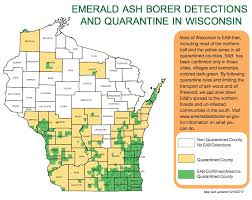 Map Of Northern Wisconsin by Invasive Species Insect Diagnostic Lab