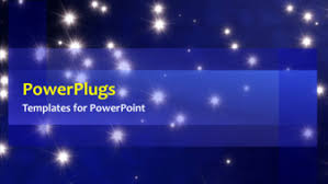 powerpoint template animated background with rain of stars on