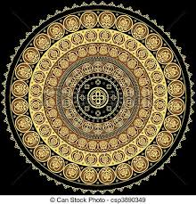 concentric ornament ornament with byzantine elements eps