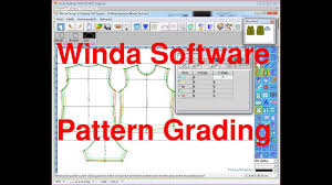 pattern and grading software how to grading pattern use by winda software winda cad for pattern