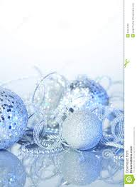 Christmas Decorations With Blue And Silver by Silver Christmas Decorations Stock Photos Image 34841763