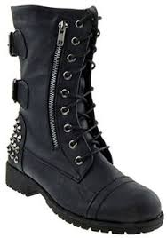 womens studded boots size 11 noir walking in my web heavy sole boots iron sole and toe