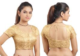 golden blouse golden ready made stitched padded printed blouse bridal blouse