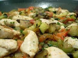 cuisiner aubergine poele recette de poêlée de poulet à la provençale