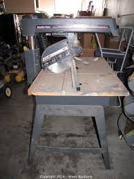 Craftsman Radial Arm Saw Table West Auctions Auction Bankruptcy Auction Of L U0026s Hallmark
