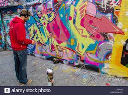 paris france french wall art graffitti artist painting stock paris france french wall art graffitti artist painting illustration in belleville area