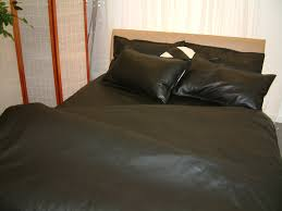 leather bed linen between the sheets