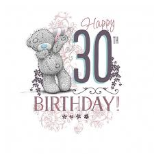 me to you happy 30th birthday card characterwise