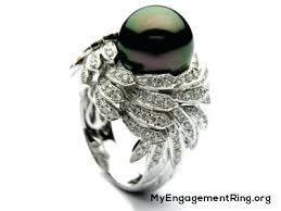 pearl and diamond engagement rings pearl and diamond wedding rings blushingblonde