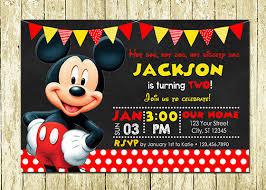 warrior printed birthday invitations mickey mouse