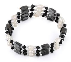 bracelet jewelry magnetic images 24 quot magnetic hematite black crystal bead pearl bracelet necklace gif