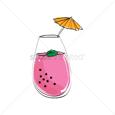 umbrella drink svg glass of mocktail with umbrella vector image 1413526