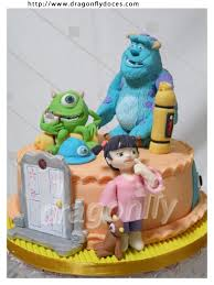 terrific monsters inc cake between the pages